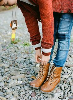 Fall fashion with tan leather lace up boots. . . click on pic to see more