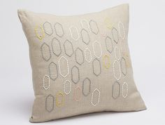 Stitched Tile Pillow