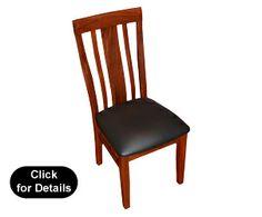 """Port Hedland""Jarrah & Leather Dining Chair"
