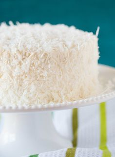 The old Fashioned OHMYGoodness ! Coconut Cake with Coconut Meringue Butter-cream Frosting !! DELICIOUS !