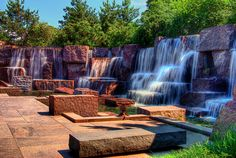 Franklin Delano Roosevelt Memorial, Washington DC.  Designed by Lawrence Halprin.