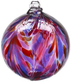 Kitras 6-Inch Feather Ball, Berry by Kitras Art Glass, http://www.amazon.com/dp/B002XDPMBO/ref=cm_sw_r_pi_dp_V79fsb0RSD8M2