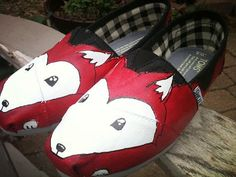 Foxes TOMS by Artful Soles on Etsy
