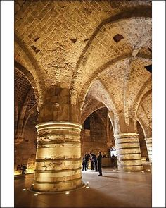 Interior of the Crusader Castle, Akko (Acre), Israel, Middle East