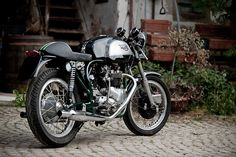 The TRIOTON! Simply iconic. This bike was originally made of a Triumph 6T (Thunderbird) and a Norton frame. They were first put together in the 1970's, however this is a 1963 restoration build