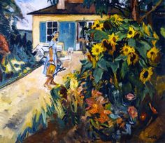 Leo Putz (1869, Merano - 1940) Tyrolean painter. His work includes Art Nouveau, Impressionism and the beginning of Expressionism. My Garden.1926