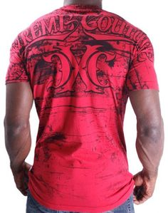 Amazon.com: Xtreme Couture Justice Men's T-Shirt Tee Red UFC MMA: Clothing