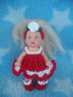 dress panties shoe hat handmade crochet clothes barbie baby krissy 2.5 doll toys
