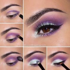 cool 20 Easy Purple Smokey Eye Makeup Tutorial Check more at http://www.ciaobellabody.com/purple-smokey-eye-makeup-tutorial/