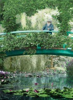 Claude Monet nel suo giardino a Giverny