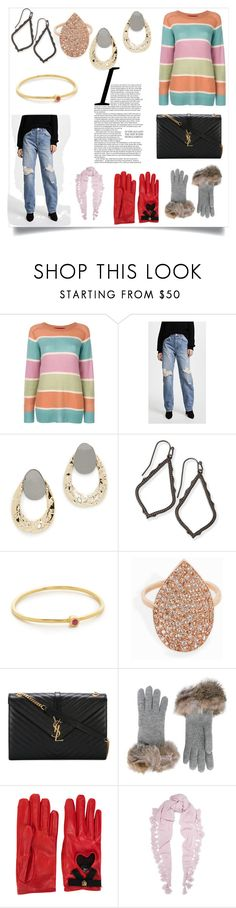 """Fashion is fad but style is eternal"" by kristeen9 on Polyvore featuring Sies Marjan, Anine Bing, Alexis Bittar, Kendra Scott, Jennifer Meyer Jewelry, MAHA LOZI, Yves Saint Laurent, Inverni, Gucci and Autumn Cashmere"