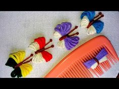 Crochet For Beginners Hand Embroidery Amazing Trick Hand Embroidery Videos, Hand Embroidery Flowers, Hand Embroidery Stitches, Hand Embroidery Designs, Ribbon Embroidery, Yarn Flowers, Crochet Flowers, Yarn Crafts, Diy And Crafts