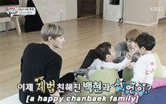 #Baekhyun #Chanyeol #EXOK #EXO #Chanbaek #gif #cute