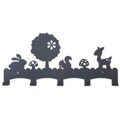 Kapstok woodland grijs. Coat hanger grey kids room. #kidsdecor