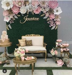178 отметок «Нравится», 3 комментариев — paper flower BACKDROPS (@sydneypaperflowers) в Instagram: «INSPO What a gorgeous set up by @mivintage Via @encontrandoideias»