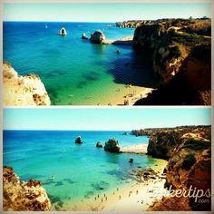 ⛤Ebb and flow on Praia do Pinhao⛤ Lagos Algarve, Oasis, Beach Fun, Beaches, Flow, Portugal, Amazing, Water, Travel
