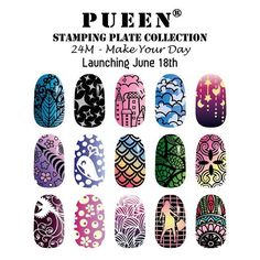 """Second preview from our upcoming stamping collection, 24M - Make Your Day #pueen #pueencosmetics #stamping #nails #nailstamp #nailart #nailstamp #nailpolish #newrelease #naillacquer #nailstagram"" Photo taken by @pueencosmetics on Instagram, pinned via the InstaPin iOS App! http://www.instapinapp.com (06/12/2015)"