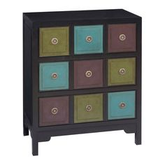 Farmhouse Vintage 3 Drawer Chest in Black