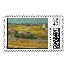 Harvest by Vincent Van Gogh Stamps