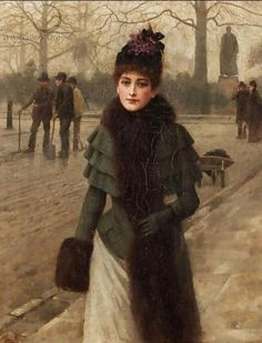 A Winters Walk - Sir George Clausen