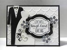 Striped Scallops Thinlits Die Wedding Card