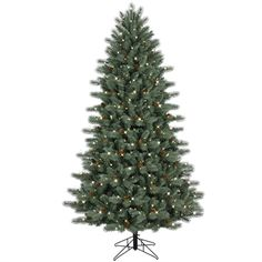 Virginia Pine Artificial Christmas Tree with Commercial Lights ...