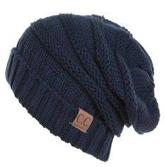 C.C. Exclusives Slouchy Beanie in Navy