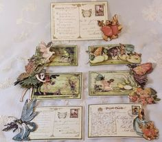Boxed mini album tags featuring Graphic 45 Once upon a springtime paper collection. By Anne Rostad