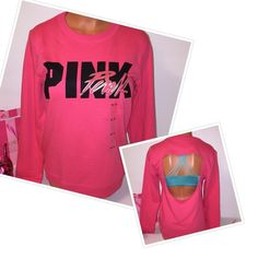 NEW PINK VS OPEN BACK SWEATSHIRT PINK VICTORIA'S SECRET OPEN BACK  OPEN BACK SWEATSHIRT LOGO IN THE FRONT, SO GORGEOUS!!!  COLOR SCARLET RED  SIZE XS (OVERSIZED)  * STRAPPY BRA NOT INCLUDED FAST SHIPPING!!!      Check out my other items! I am sure you will find something that you will love it! Thank you for watch!!!!!   Be sure to add me to your favorites list! PINK Victoria's Secret Tops Sweatshirts & Hoodies
