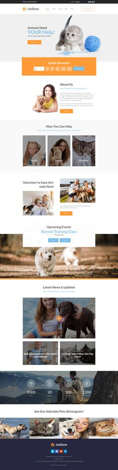 This particular Animal Shelter WordPress Template will completely do the job for animals and pets websites. The template's simple page layout is professionally built to provide the perfect buyer ex...
