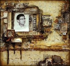 My Craft World: Masculine mixed media layout with a step by step video tutorial