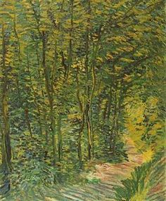 Path In Woods 1887   Vincent Van Gogh   oil painting
