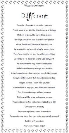 Vitiligo Poem...love this