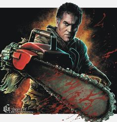 Bruce Campbell, Horror House, Dark Thoughts, King Baby, Many Faces, Twisted Humor, Scary Movies, Halloween Art, Movies And Tv Shows