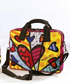 Romero Britto Microfiber Laptop Sleeve W/ Heart