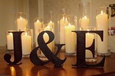 Art simple and easy reception decor w/ initials wedding-and-events