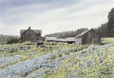 """""""Sage"""" by Jon Crane  (11 1/2"""" x 8"""")  There is nothing like the smell of sage.  It has the sweet/pungent smell that is the West.  This old homestead was located south of Custer, South Dakota."""