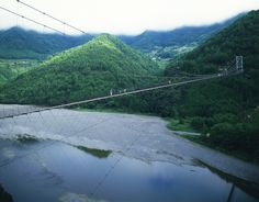 谷瀬のつり橋 (Tanise Suspension Bridge) 十津川村の谷瀬の吊橋【絶景NIPPON】 - ovo #絶景 #十津川村 #吊り橋 Nippon, Culture, River, Outdoor, Outdoors, Outdoor Games, The Great Outdoors, Rivers