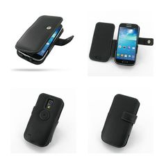 PDair Leather Case for Samsung Galaxy S4 Mini GT-i9190 - Book Type (Black)