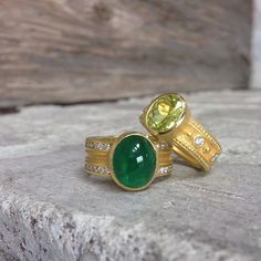A splash of color for spring! Rings by Barbara Heinrich, available @QUADRUM