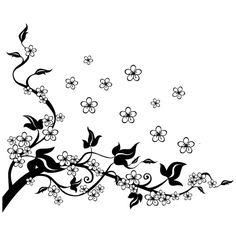 Calque colibri et fleurs de cerisier essais pour un pied r alis par sylvaine du studio - Tatouage pensee fleur ...