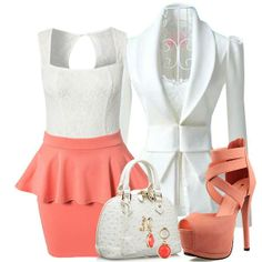 The perfect combination of summer women clothes #Dress #Blazer #Sandal #Bag