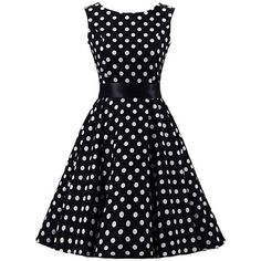 Sleeveless Polka Dot Ball Gown Dress ($32) ❤ liked on Polyvore featuring dresses, gowns, dot print dress, no sleeve dress, sleeveless dress, blue dot dress and blue evening dresses