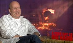 Bruce Willis is happy to talk about A Good Day to Die Hard.