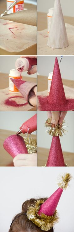 Make It For New Years! Make your own party hats.
