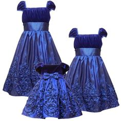 $44.95-$62.00 Baby Size-18M RRE-50421H 2-Piece BLUE VELVET SOUTACHE BORDER Special Occasion Wedding Flower Girl Holiday Pageant Party Dress,H150421 Rare Editions BABY/IN... - Beautiful BLUE VELVET & TAFFETA DRESS features STRETCH VELVET BODICE with ELASTICIZED CAP SLEEVES and BOW FRONT TRIM at the  EMPIRE WAIST.  Fully lined  BLUE TAFFETA SKIRT features SOUTACHE RIBBON DETAILS with GOLD EDGE TRI ...