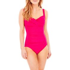 "<p>Master the art of figure flattery in our one-piece swimsuit from Trimshaper, designed with front shirring and a slimming tummy control panel for glamorous shaping.</p><div style=""page-break-after: always;""><span style=""display: none;"">"