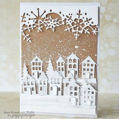 Winter Landscape #card by Irena Kowalczyk Rudlis: