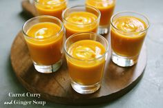 Carrot Curry and Ginger Soup #healthy #glutenfree - great for holiday entertaining!