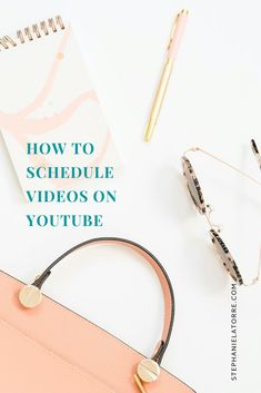 This week I am showing you how to schedule videos on youtube!